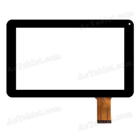 FHF090-020 Digitizer Glass Touch Screen Replacement for 9 Inch MID Tablet PC
