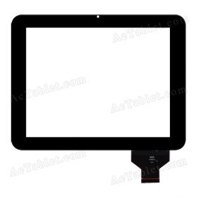 QSD E-C97004-04 Digitizer Glass Touch Screen Replacement for 9.7 Inch MID Tablet PC