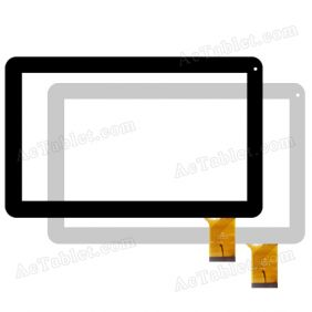 QSD E-C10087-01 2014-05-26 Digitizer Touch Screen Replacement for 10.1 Inch MID Tablet PC