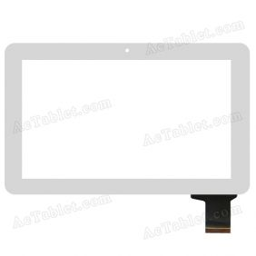 C162262A2 DRFPC166T-V1.0 Digitizer Glass Touch Screen Replacement for 10.1 Inch MID Tablet PC