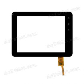 Replacement TOPSUN_D0048_A2 2013.04.18 ZJX Digitizer Glass Touch Screen for 8 Inch Tablet PC