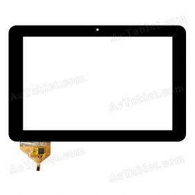 YTG-P10004-F1 V1.1 Digitizer Glass Touch Screen Replacement for 10.1 Inch MID Tablet PC