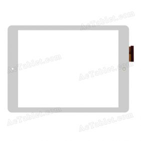 RS10F490_V1.2 Digitizer Glass Touch Screen Replacement for 9.7 Inch MID Tablet PC