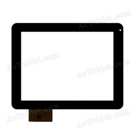 YTG-P97007-F1 V1.1 Digitizer Glass Touch Screen Replacement for 9.7 Inch MID Tablet PC