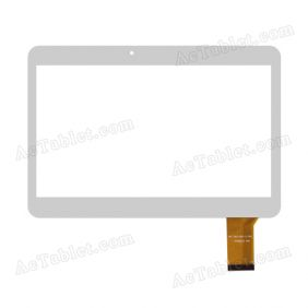 MF-762-101F FPC Digitizer Glass Touch Screen Replacement for 10.1 Inch MID Tablet PC