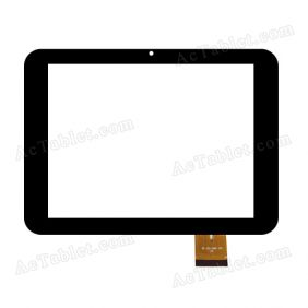 MF-352-080F FPC Digitizer Glass Touch Screen Replacement for 8 Inch MID Tablet PC