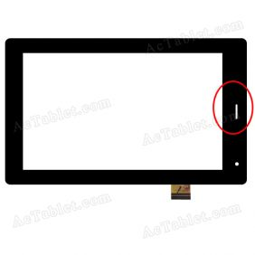 YTG-G70042-F2 V1.0 Digitizer Glass Touch Screen Replacement for 7 Inch MID Tablet PC