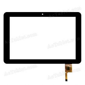 RS10F118_V1.0 Digitizer Glass Touch Screen Replacement for 10.1 Inch MID Tablet PC