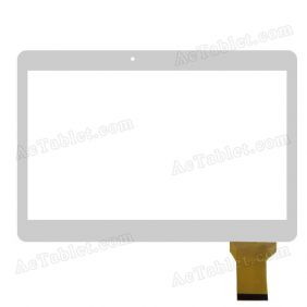 MJK-0331-V1 FPC Digitizer Glass Touch Screen Replacement for 10.1 Inch MID Tablet PC