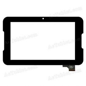 C116193A1-DRFPC128T-V1.0 Digitizer Glass Touch Screen Replacement for 7 Inch MID Tablet PC