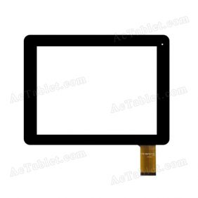 YTG-G10055-F1 V1.1 Digitizer Glass Touch Screen Replacement for 9.7 Inch MID Tablet PC