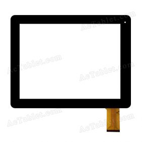 RS-XF9708-M97105-V1.0 Digitizer Glass Touch Screen Replacement for 9.7 Inch MID Tablet PC