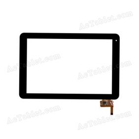 RS10F207_V1.1 Digitizer Glass Touch Screen Replacement for 10.1 Inch MID Tablet PC
