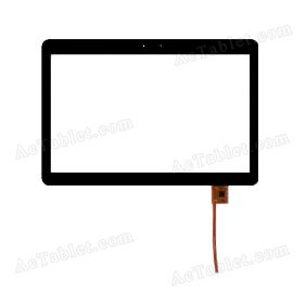 QYS SS 04-1011-0245E FPC Digitizer Glass Touch Screen Replacement for 10.1 Inch MID Tablet PC