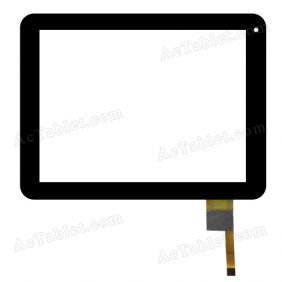 CTD080AJSFT01 V1.0 Digitizer Glass Touch Screen Replacement for 8 Inch MID Tablet PC