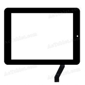 ZL-02f080003ME-A Digitizer Glass Touch Screen Replacement for 8 Inch MID Tablet PC