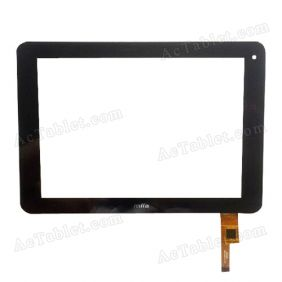 QYS 04-0800-0146C Digitizer Glass Touch Screen Replacement for 8 Inch MID Tablet PC