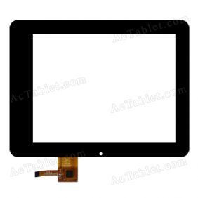 PB80DR9007 Digitizer Glass Touch Screen Replacement for 8 Inch MID Tablet PC