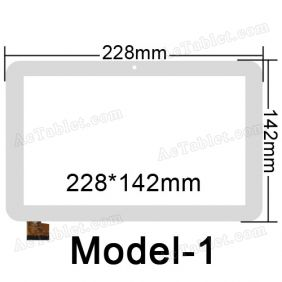 TPC1732 VER1.0 Digitizer Glass Touch Screen Replacement for 9 Inch MID Tablet PC