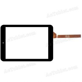 C197134A6-FPC766DR Digitizer Glass Touch Screen Replacement for 7.9 Inch MID Tablet PC