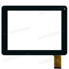 QSD E-C97055-02 Digitizer Glass Touch Screen Replacement for 9.7 Inch MID Tablet PC