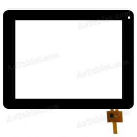 RS8F160_V1.0 Digitizer Glass Touch Screen Replacement for 8 Inch MID Tablet PC