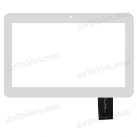 DH-1017A1-GG-FPC070-V2.0 Digitizer Glass Touch Screen Replacement for 10.1 Inch MID Tablet PC