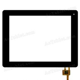 RS9F083_V2.0 Digitizer Glass Touch Screen Replacement for 9 Inch MID Tablet PC