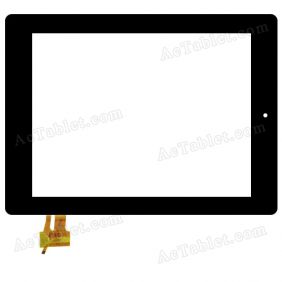 RS9F171_V1.2 Digitizer Glass Touch Screen Replacement for 9.7 Inch MID Tablet PC