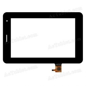 RS7F252_V2.0 Digitizer Glass Touch Screen Replacement for 7 Inch MID Tablet PC