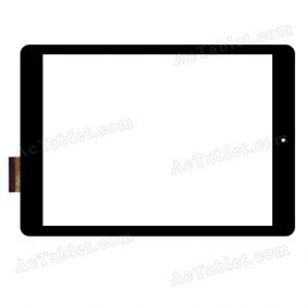 Black Color RS9F559_V1.0 Digitizer Glass Touch Screen Replacement for 9.7 Inch MID Tablet PC