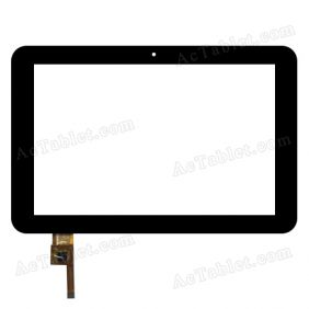 RS10F357_V1.2 Digitizer Glass Touch Screen Replacement for 10.1 Inch MID Tablet PC
