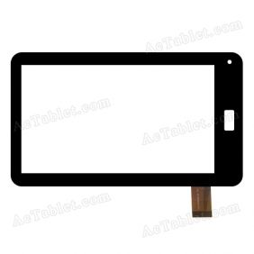 CSCTP70023-01 FPC Digitizer Glass Touch Screen Replacement for 7 Inch MID Tablet PC