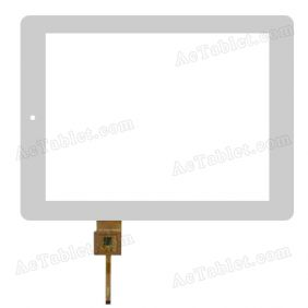 YCF0412-B Digitizer Glass Touch Screen Replacement for 9.7 Inch MID Tablet PC