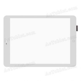 RS9F559G_V2.1 Digitizer Glass Touch Screen Replacement for 9.7 Inch Tablet PC