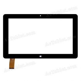 XN-1572-B Digitizer Glass Touch Screen Replacement for 10.6 Inch MID Tablet PC