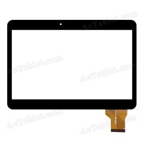 CN026C1010-FPC-V1.0 Digitizer Glass Touch Screen Replacement for 10.1 Inch MID Tablet PC