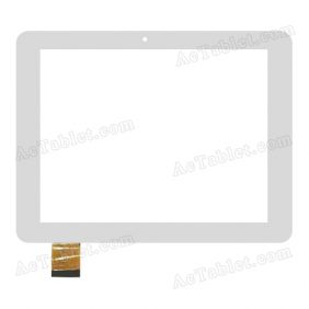 QSD E-C8020-02 Digitizer Glass Touch Screen Replacement for 10.1 Inch MID Tablet PC