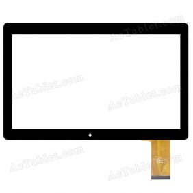 YTG-G10071-F1 V1.0 LLT Digitizer Glass Touch Screen Replacement for 10.1 Inch Tablet PC