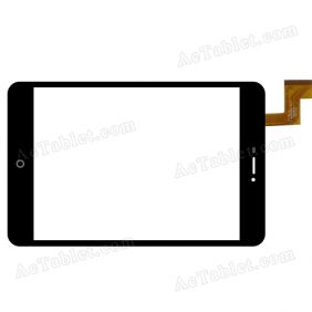 YTG-G80048-F1 V1.0 Digitizer Glass Touch Screen Replacement for 8 Inch MID Tablet PC