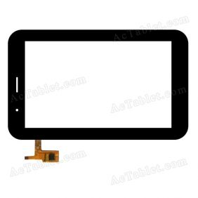 QYS 04-0700-0266A Digitizer Glass Touch Screen Replacement for 7 Inch MID Tablet PC