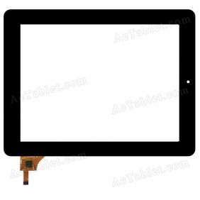 YTG-P97006-F1 Digitizer Glass Touch Screen Replacement for 9.7 Inch MID Tablet PC