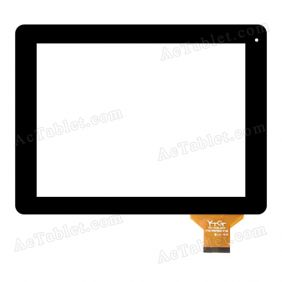 YTG-P97002-F18 V1.0 Digitizer Glass Touch Screen Replacement for 9.7 Inch MID Tablet PC