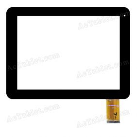 YTG-G97017-F1 V1.0 Digitizer Glass Touch Screen Replacement for 9.7 Inch MID Tablet PC