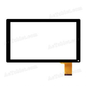 FK 10002 V1.0 Digitizer Glass Touch Screen Panel Replacement for 10.1 Inch Tablet PC