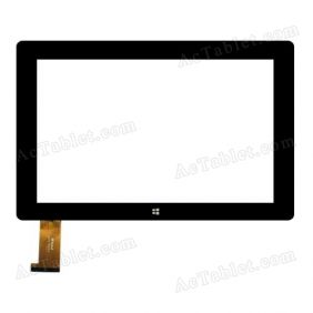WJ976-FPC V1.0 Digitizer Glass Touch Screen Replacement for 10.1 Inch MID Tablet PC