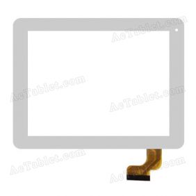 FHF80008 Digitizer Glass Touch Screen Replacement for 8 Inch MID Tablet PC
