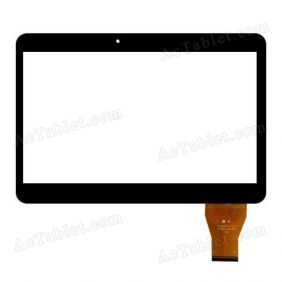 YCG-C10.1-0182C-FPC-01 Digitizer Glass Touch Screen Replacement for 10.1 Inch MID Tablet PC