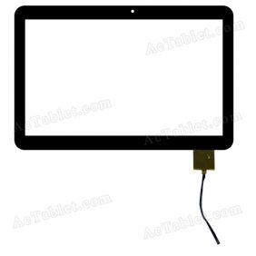 F-WGJ10154-J-V1 Digitizer Glass Touch Screen Replacement for 10.1 Inch MID Tablet PC