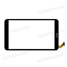 C.FPC.WT1102B080V01 Digitizer Glass Touch Screen Replacement for 8 Inch MID Tablet PC